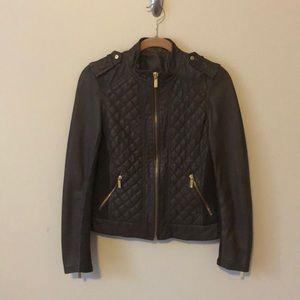 MICHAEL Michael Kors Brown Leather Jacket Size M